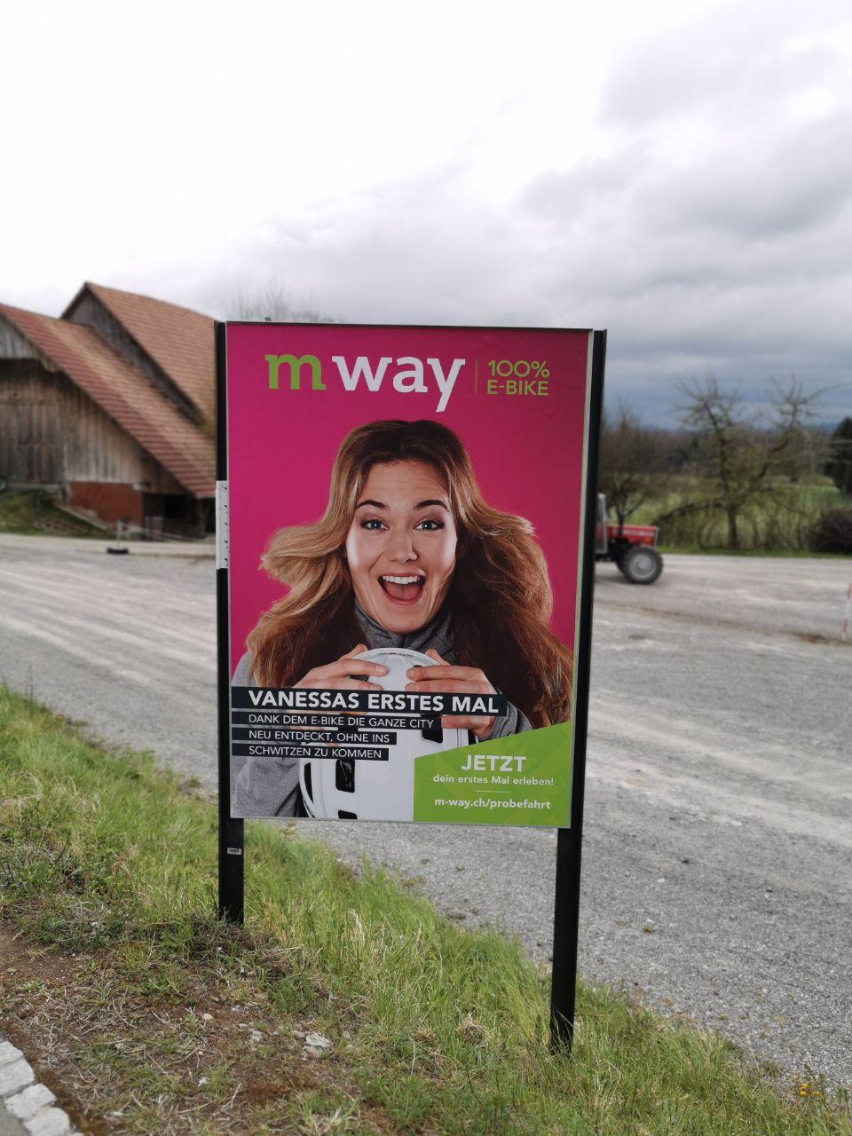 Doofe Plakatwerbung von mway