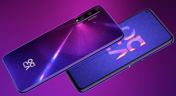 Huawei Nova 5T neues Smartphone Ansicht