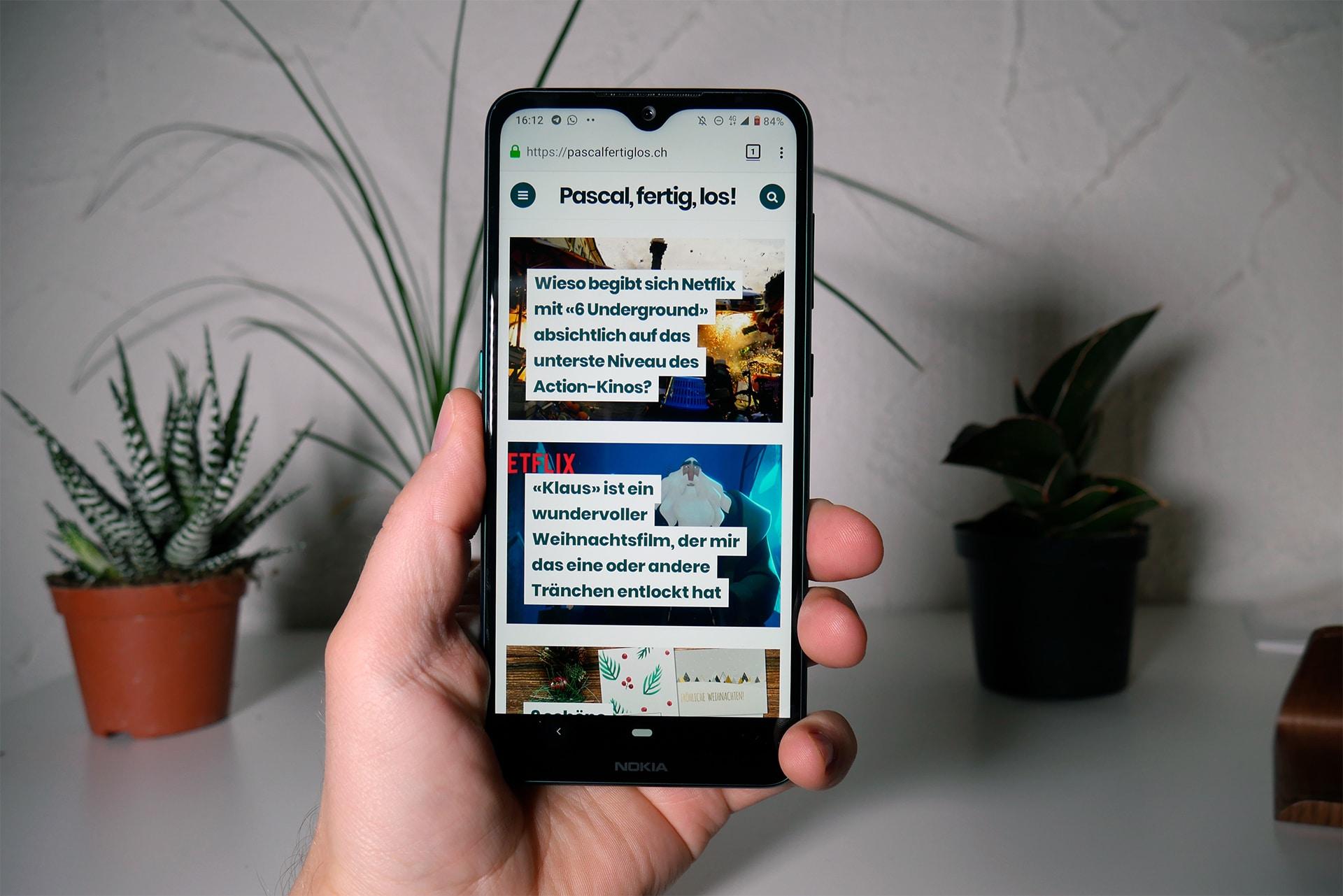 Nokia 7.2 Test/Review Cyan Green