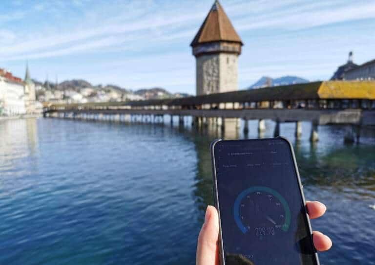 5G-Netz Swisscom in Luzern Test