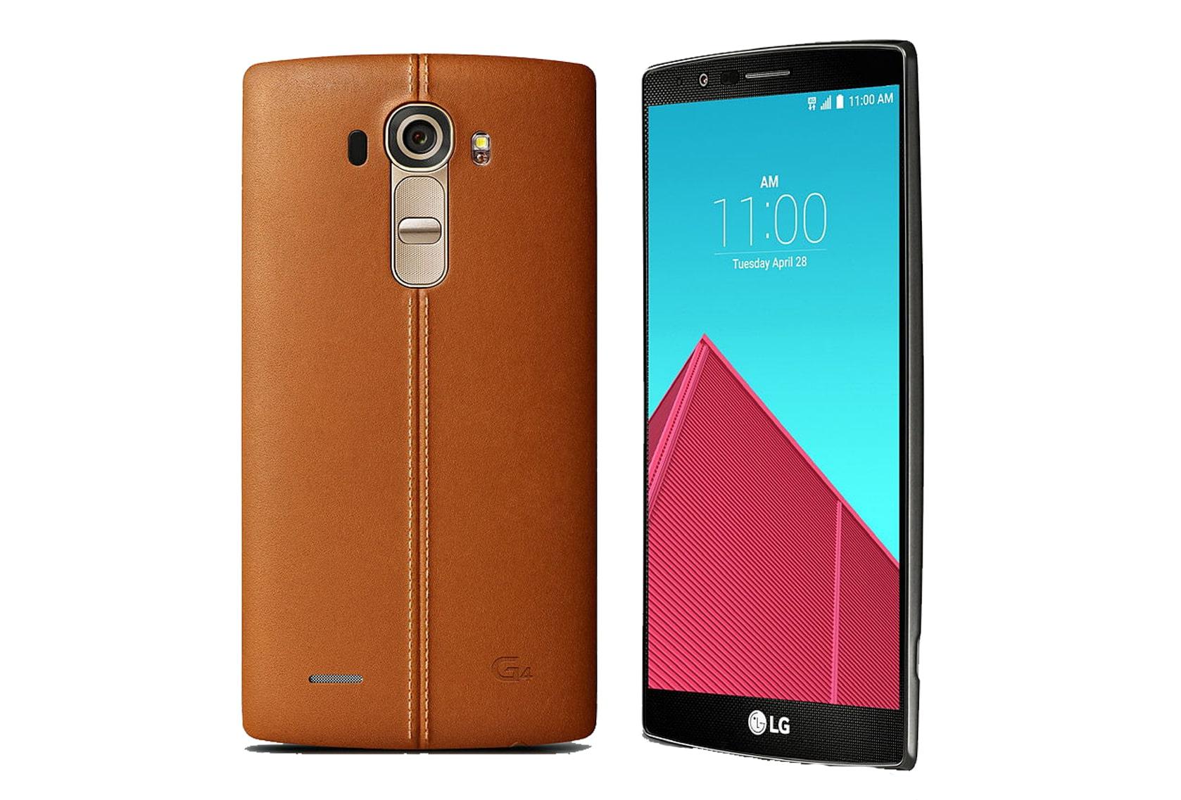 LG G4 Brown-Edition mit Lederrückseite.