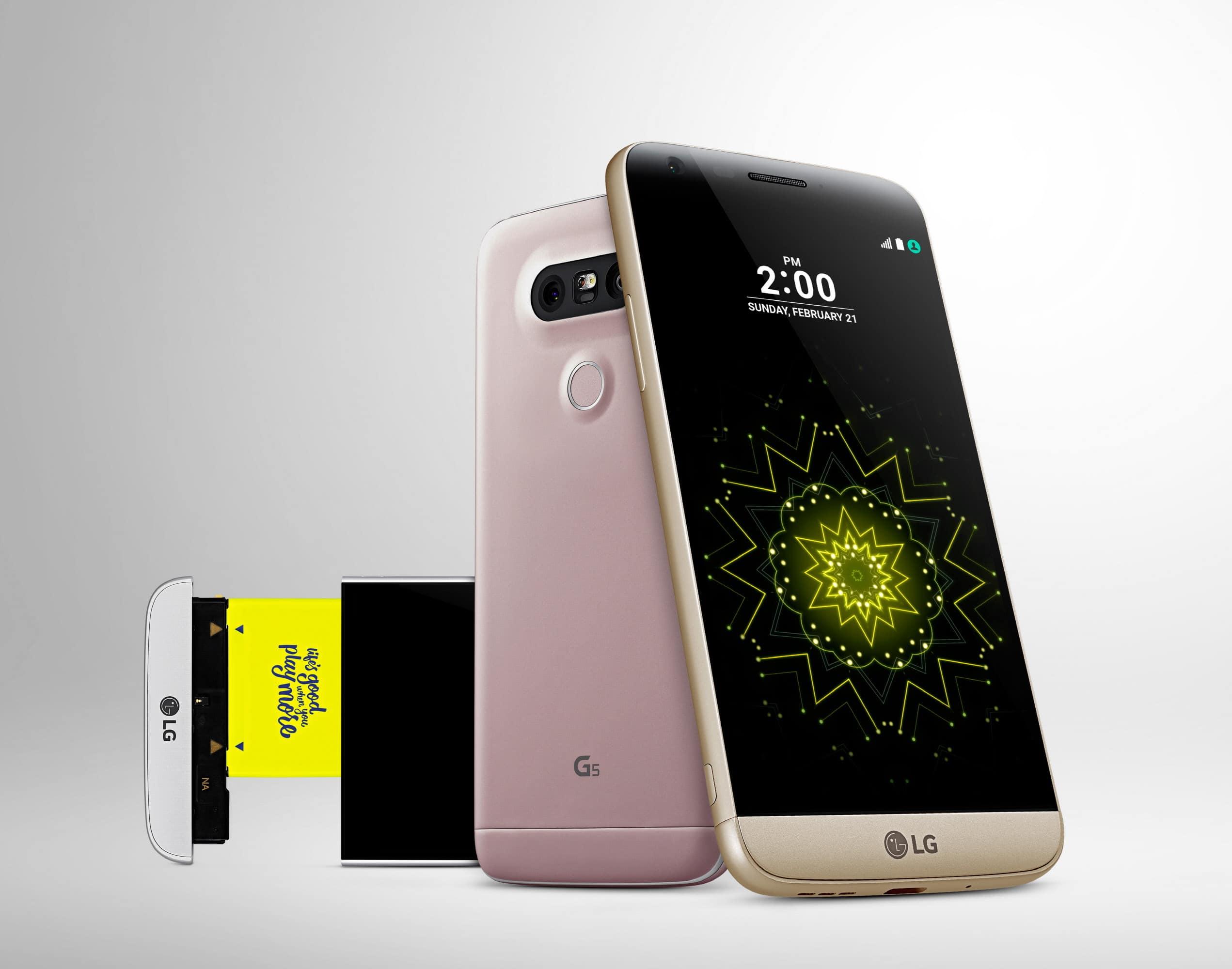 """So sah das LG G5 aus. Damals gabs """"nur"""" eine Dual-Kamera."""
