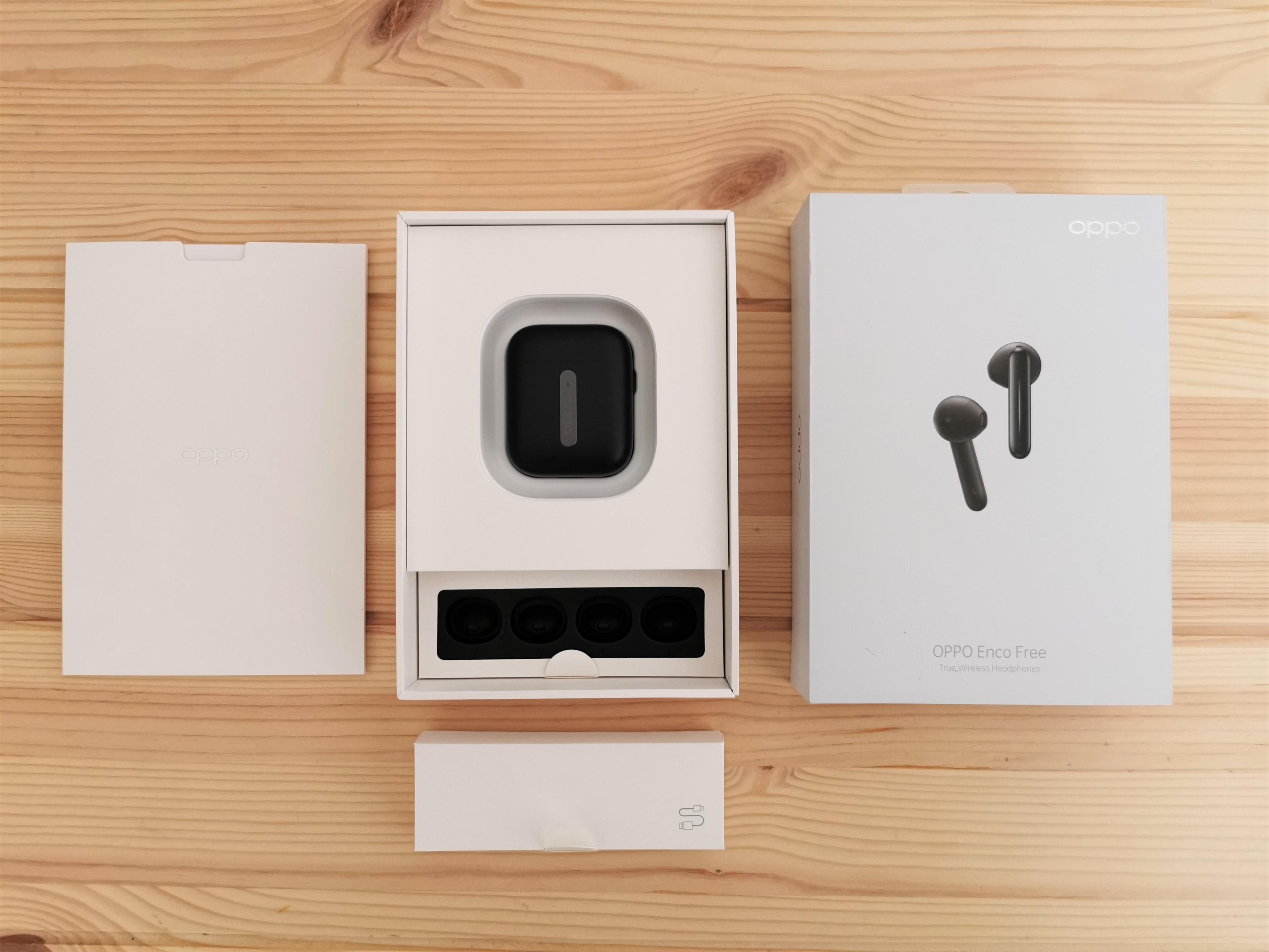 Oppo Enco Free Kopfhörer Verpackungsinhalt
